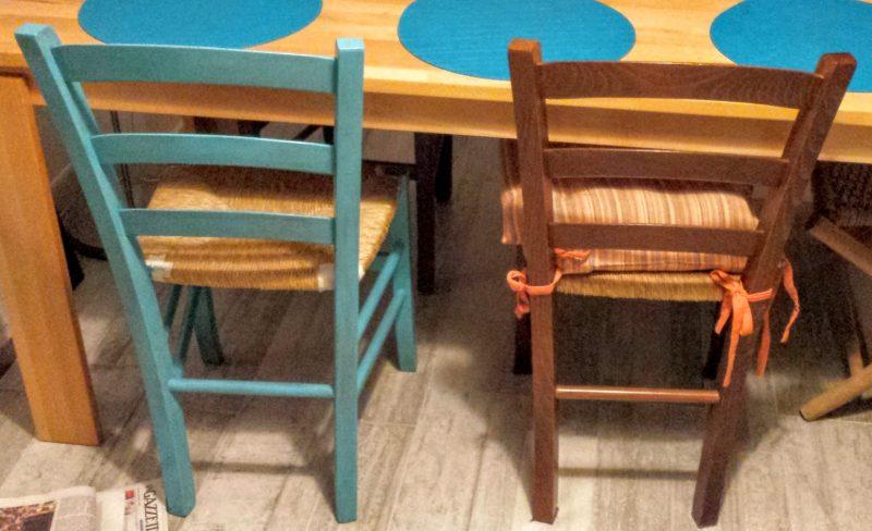 dipingere le sedie