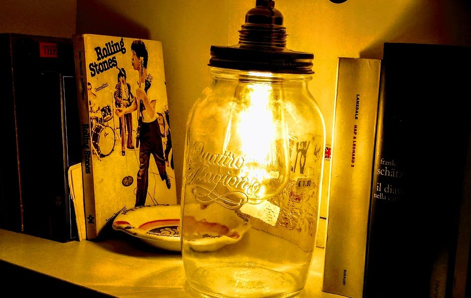 creare lampada in un barattolo di vetro