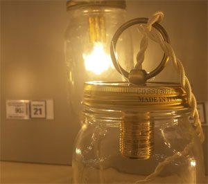 Creare lampade vintage con i barattoli vado a vivere da solo for Vetro sintetico leroy merlin