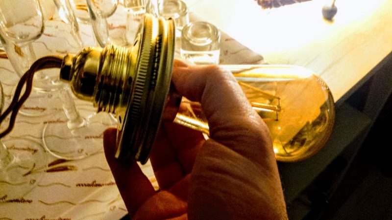 lampadina vintage vaso di vetro