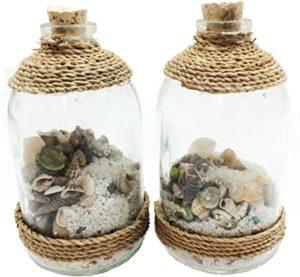 bottiglia con sassolini